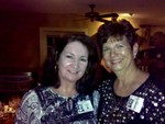 Kathy Liner Mears and Diane Murphy Booth at Caleb's on Friday night