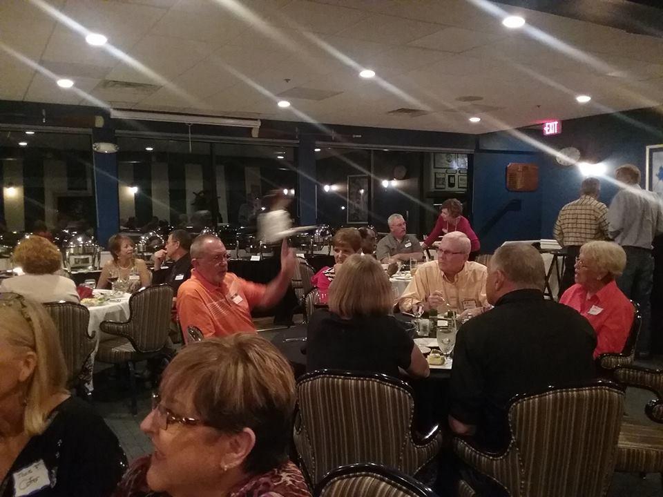Foreground: Debbie Tyler Rusek, Background: Debbie Romano Perron, Bobby Stinson, Clyde Oran At Table: Grant Booth, Diane Murphy Booth, Mr. Van McDonald, Judy McDonald