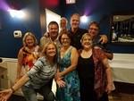 Back row: Lou Hoopingarner, Gary Reeder, Bill Russ, David Jennings, Brian Hoopingarner Front row: Brenda Reeder, Pam Mefferd Russ, Debbie Tyler Rusek